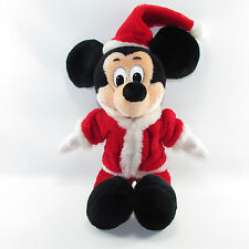 "Disney Mickey Mouse Santa Claus Stuffed Plush Disneyland 15"""