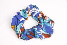 Bleu Électrique Blanc Orange & Turquoise Coloré Tropical Imprimé Cheveux Chouchou s144c