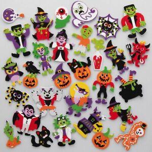 20 HALLOWEEN FOAM Stickers Kids Craft Peel Stick Activity Foam Spider Bat Ghost