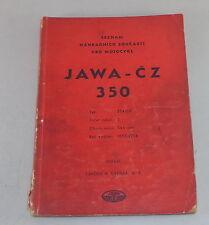 Parts Catalog/Seznam nahradnich soucasti Jawa CZ 350 Stand 1955/1956