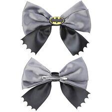 DC Comics Batman Cosplay Hair Bow Pin Clip Costume Dress Up Bat Logo Ribbon Bow