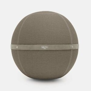 Bloon Fabric Leather Sitting Ball Diameter 21 11/16-23 5/8in Exercise Washable