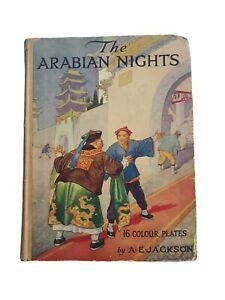 The Arabian Nights:16 Colour Plates By A.E. Jackson-Vintage Sunshine Series