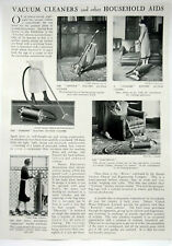 Vacuum Cleaners and other Household Aids ~ Vintage 1926 Article