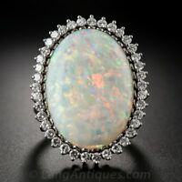 Fashion Huge Silver White Fire Opal Wedding Engagement Ring Women Jewelry Sz6-10