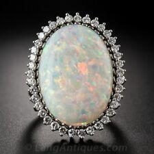 Fashion Huge Silver White Fire Opal Wedding Engagement Ring Women Jewelry Sz6-10