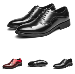 Mens Low Top Business Leisure Shoes Oxfords Work Office Slip on Party Wedding 48