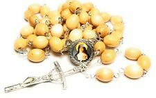 Margaret Mary Alacoque wooden relic rosary patron of loss of parents, devotees