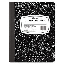 Mead Square Deal Composition Book College Rule 9 3/4 X 7 1/2 White 100 Sheets