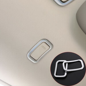 For Mercedes Benz S Class W222 S320 Chrome Roof Hook Cover Trim 2014-2017 2pcs