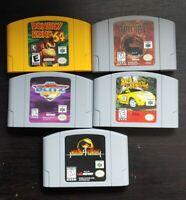Nintendo 64 Games - Lot Of 5 - Donkey Kong 64, Mortal Kombat 3 & 4, NFL Blitz