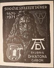 Exlibris Karoly Andrusko X2 für Dr . Katona Gabor