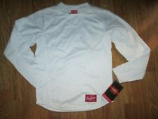 Mens Rawlings athletic fleece lined fitted baseball shirt sz S Sm Nwt base layer