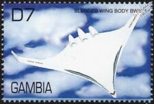 BOEING X-48 Blended Wing Body BWB-1 Experimental UAV Aircraft Stamp/2000 Gambia
