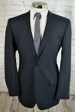 $250 Wilke Rodriguez Mens Charcoal Gray Wool 2 Button Blazer Sport Coat 44L