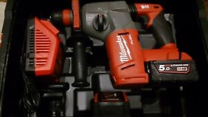MILWAUKEE M18CHX-502X 18V FUEL SDS+ HAMMER DRILL WITH TWO 5.0AH BATTERIES