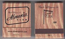 Hank Williams Jr. Almeria Club RARE promo matchbooks (2) '02 (NEVER USED)