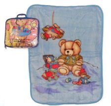 Baby Girls Boys Spanish Style Traditional Plush Soft Teddy Bear Wrap Blanket