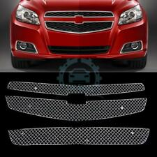 For Chevrolet Malibu 2013 Stainless Honeycomb Mesh 3PCS Front Hood Grille