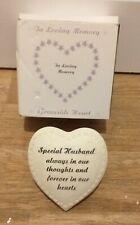 In Loving Memory ~ Graveside 18 cm Heart Memorial Ornament - special husband