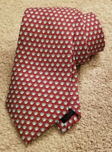 "Boy's NWT $49.50 Vineyard Vines Tie ""Scallops Shells"" Made in USA 100% Silk"