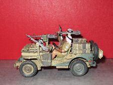 KING & COUNTRY NEUF = EA115 - LRDG ATTACK JEEP + 2 PERSONNAGES ASSIS