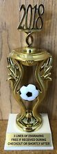 """9.5"""" SOCCER TROPHY - FREE ENGRAVING - EASY ASSEMBLY REQUIRED"""