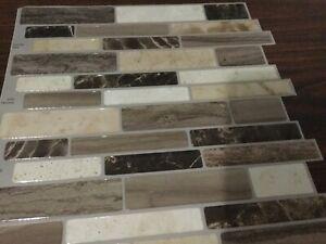 Peel And Stick Backsplash Tile. Verona Beige . 20 Sheets