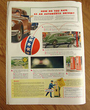 1946 Ethyl Gasoline Ad How Do You Rate As an Automobile Driver?