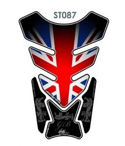 Union Jack Motorrad Tankpad Schutz / UK Flagge Tank Pad