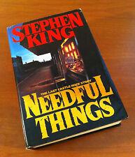 Needful Things by Stephen King (1991, Hardcover w/ jacket) 1st Printing