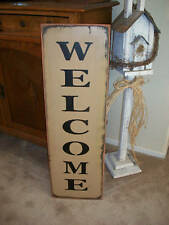 """xTRA large WELCOME sign  36"""" wood sign primitive"""