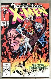 Uncanny X-Men #243-1989 vf X Men Inferno