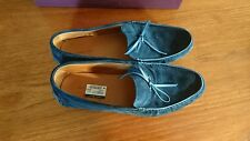 A Brand New Pair of John Lobb Men's Slip on Blue suede Shoes new with Tags box