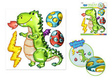Balloon Blasts DRAGON with fire egg wall sticker 4 big 3D pop-up decals medieval