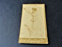 Antique 1880s G.W. Gail/Ax's Navy Tobacco Card with black / white image of lady.