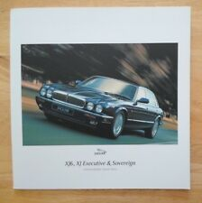 JAGUAR XJ SERIES orig 1997 UK Mkt Large Format Brochure  XJ6 Executive Sovereign