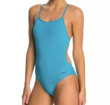 NWT bathing suit Girl Women's Speedo Endurance Lite Teal/blue Competition 30 $69