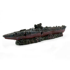Fish Tank Accessories Aquarium Decoration Decor Aircraft Carrier Ship Shipwrecks
