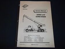 MANITOWOC 4096S 4296S CRANE BOOM TRUCK SERVICE SHOP REPAIR MANUAL BOOK