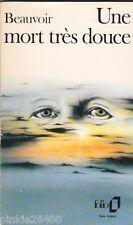 Une mort très douce - Simone de Beauvoir. Liliane Carissimi en couverture .19/5