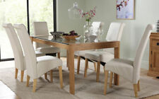 Oak Up to 8 Seats Fixed Unbranded Table & Chair Sets