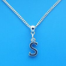 """1 x Silver Plated 18"""" Letter S Necklace Alphabet Initial"""