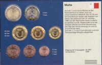 Malta 2008 Stgl./unzirkuliert Kursmünzensatz 2008 Euro-Erstausgabe