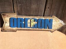 """Oregon State Flag This Way To Arrow Sign Novelty Metal 17"""" x 5"""""""