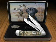 CASE XX Ducks Unlimited Embossed Natural Bone Trapper Pocket Knife Stainless