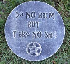 Gothic Do no Harm plaque mold for plaster concrete casting