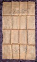 "Vintage Ted Hessian Primitive Hook Rug Pattern - Georgia Snow - 20"" x 36"""