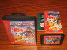 Sonic the Hedgehog Spinball Sega Genesis Complete CIB w/ Poster: TESTED, NICE!!!