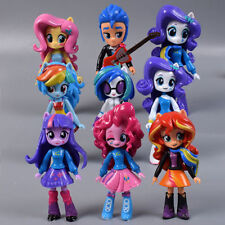 9 My-Little-Pony Equestria Girls Action Figures Dolls Play Set Nursery Decor Toy